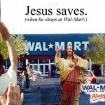 Jesus saves at wall mart