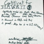 Another Official Obama Certificate
