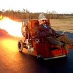 Car with afterburner
