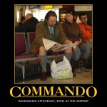 It is better if everybody travels like this command kilt-wearing guy