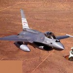 F16 chasing a monkey on a flying carpet