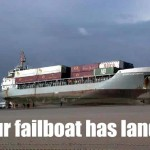 Boats can't go on land: FAIL