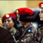 Gaddafi's military police women