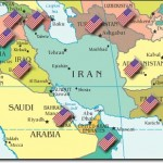 Iran surrounded by the US