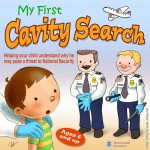 Happy people teaching child about cavity search