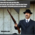 Saddam trying to persuade the UN that he does not have any weapons