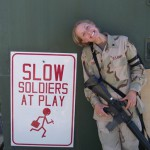 Slow and retarded soldiers at play
